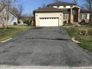 Before & After Driveway Crack Filling and Sealcoating in  Rehobeth Beach, DE (3)