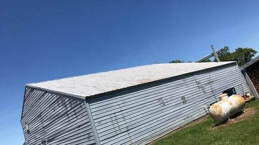 Before & After Aluminum Barn Roof Coating in Selbyville, DE (1)