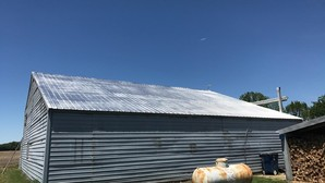 Before & After Aluminum Barn Roof Coating in Selbyville, DE (2)