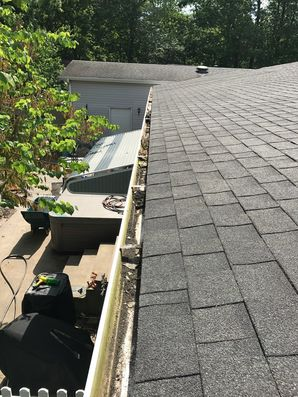 Before and After Gutter Guard Installation in Millsboro, DE (2)