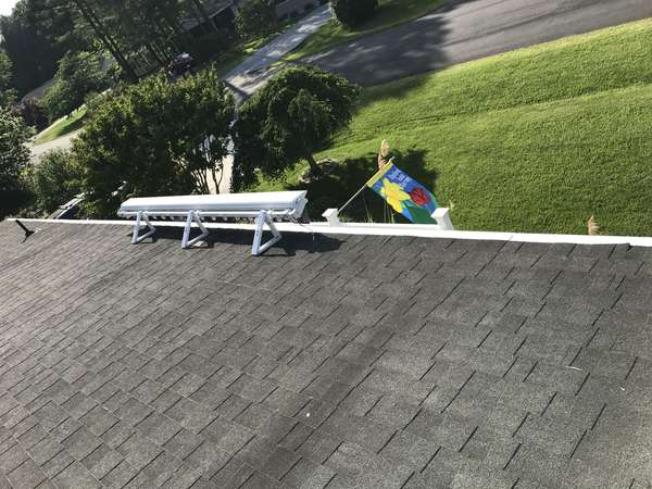 Before & After: Gutter Cleaning, Refastened Gutters, Sealed Joints, Installed Gutter Guards (3)