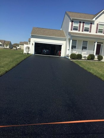Before, During & After Driveway Sealcoating in Dover, DE by Tom McDonald Contracting