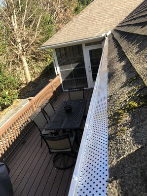 New Gutter Guards and Driveway Sealed in Rehoboth Beach, DE (2)