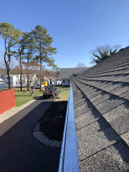 Just got done install new gutter guards for our friends at Active Adult Realty in Lewes DE! (5)