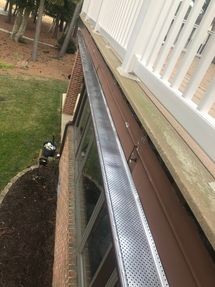 Beautiful view while installing new Gutter Guards in Dagsboro, DE (4)