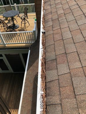 Before & After Gutter Guards Installed on a Beach Home in Rehobeth Beach, DE (1)