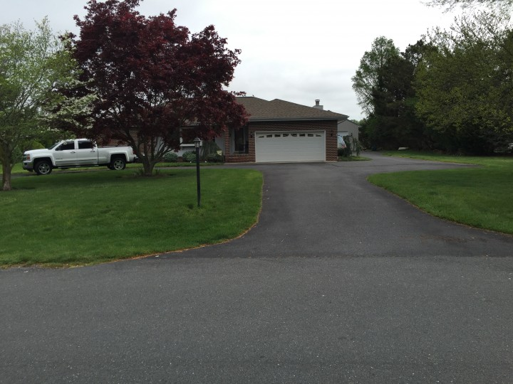 Before & After Sealcoating Residential Driveway in Dover, DE