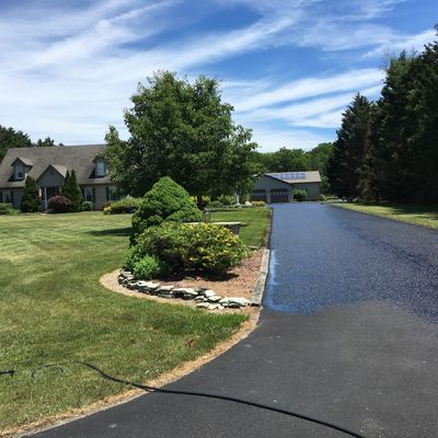 Asphalt sealcoating by Tom McDonald Contracting
