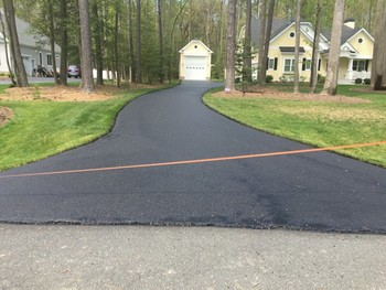 Before & After Driveway Sealcoating in Dover, DE