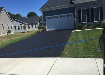 Before & After Driveway Sealcoating in Viola, DE